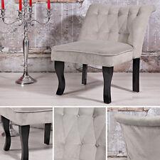 Französischer Polstersessel Barockstil grau Wohnzimmer Relaxsessel Fernsehsessel