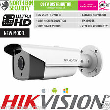 HIKVISION 4MP 3MP 1080P ONVIF 120DB WDR 50M IR POE DS-2CD2T42WD-I5 BULLET IP CAM
