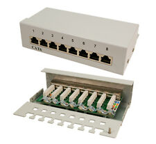 "LogiLink NP0016A Patch Panel 19"" CAT6 RJ45 8-port vollgeschirmt weiß"