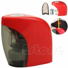 Automatic Desktop Electric Touch Switch Home School Office Pencil Sharpener Red