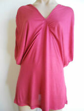 Ultimate Size 16 1XL Red Wide Draped V Neck Bat Wing Sleeve Tunic  Top BNWOT