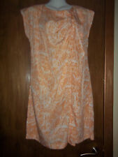 womans peach ruffled dress from vila clothes size medium new with tags RRP £30