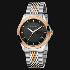 $1025 GUCCI YA126410 Timeless Red Gold PVD Men's Watch