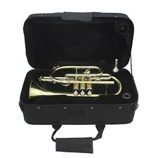 Professional Bb Flat Cornet Brass Instrument with Carrying Case New T7H0