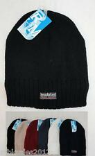 Wholesale Lot of 12 Thermal Insulated Solid Color Winter Knit Beanie Hats