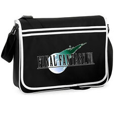 Final Fantasy 7 College Messenger Shoulder Bag Geeky Gamer Retro