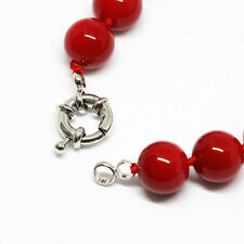 "New fashion red coral 8mm round beads Gemstone  necklace 18"" jewelry"