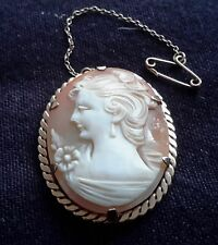 ELEGANT CAMEO 9CT BROOCH DESIGNED BY E. J. CLEWLEY & CO