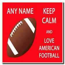 Keep Calm And Love American Football Personalised Drinks Mat Coaster