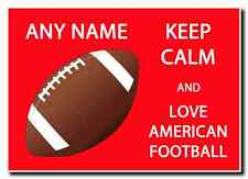 Keep Calm And Love American Football Personalised Jumbo Magnet