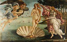"""Sandro Botticelli """"Die Geburt der Venus"""" (1485/86) farbiger Kunstdruck DIN A4"""