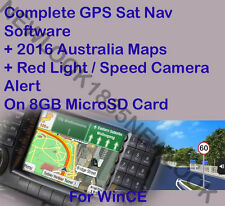 On 8GB Micro SD GPS SAT NAV Software for WINCE + 2016 AUSTRALIA MAP - Alert