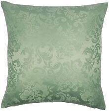 "JACQUARD FLORAL DAMASK GREEN 18"" 45CM CUSHION COVER TO MATCH CURTAINS"