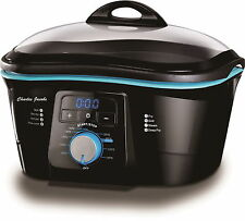 Charles Jacobs Electric Non-Stick 8 IN 1 MULTI COOKER IN BLACK & BLUE 1500W 5L