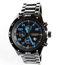 Black Men's 30m Waterproof Sport Outdoor Luminous, Calendar, Quartz Watches
