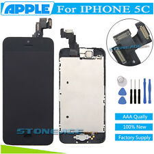 For iPhone 5C Black LCD Touch Screen Digitizer Replacement + Home Button +Camera