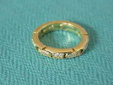 DESIGNER 18K GOLD HINGED AND FLEXIBLE 4 MM WIDE DIAMOND BAND RING SZ 6 1/4