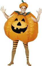 Adults Pumpkin Costume Halloween Fancy Party Mens Complete Funny Dress
