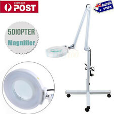 Magnifying Lamp Glass Lens Round Head LED BEAUTY Magnifier On Stand