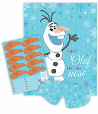 FROZEN STICK THE NOSE ON OLAF PIN THE NOSE PARTY BIRTHDAY GAME DECORATION SUPPLY