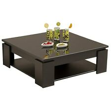 Parisot Quadri Coffee Table in Shiny Black 9459TABA