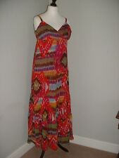 Womens Size 10 Fully Lined Patterned Maxi Dress from SAVOIR