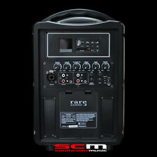 RARE AUDIO RB80 PORTABLE PA SYSTEM 80 WATTS COMPACT SIZE BATTERY OR AC POWERED