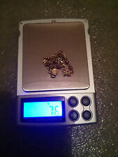 Collectable Pure 24k 24ct solid Gold Bracelet, 7.6 grams, Beauty Heart & flower!