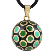 Green Dot Harmony Ball Chime Pendant Necklace Pregnancy Soothing Musical Ball