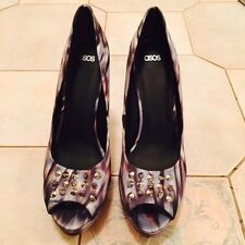 Ladies Asos Fabric Covered Studded Peep Toe Heels Size 9 BNWT RRP $99 Reduced