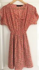 WISH WOMENS DRESS LINED FLORAL PRINT WORK PARTY SZ 6 XXS