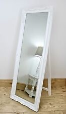 """Isabella White Shabby Chic Full Length Antique Cheval Mirror 60"""" x 22"""" X Large"""