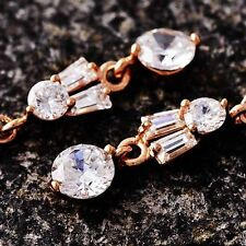 womens long earrings rose gold filled fashion jewelry crystal dangle earrings