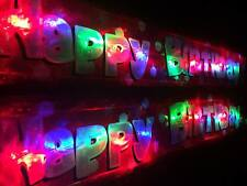 NEW FLASHING RED  HAPPY BIRTHDAY BANNER PARTY DECORATION  LIGHT UP BALLOONS