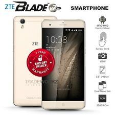 "Unlocked ZTE Blade V7 Max Gold 5.5"" IPS Octa Core 4G LTE Android Mobile Phone"