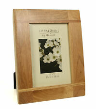 """Impressions Oak Wood Photo Picture Frame with Cross Batons 5"""" x 7"""" FW67657"""