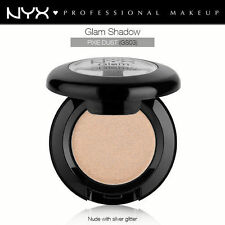 NYX GLAM SHADOW EYE SHADOW #GS03 PIXIE DUST NUDE NATURAL SILVER GLITTER