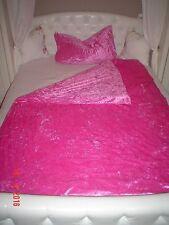 Bettwäsche samt / Samtbettwäsche in aufregendem pink, 135x200, 80x80