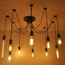 10 heads Lighting Vintage Retro Pendant Chandelier Edison Lights Ceiling Lamps