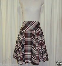 BEAUTIFUL CUE HIGH WAISTED BUBBLE HEM CHECKERED SKIRT AUS 10,US 6