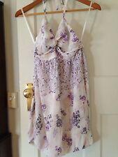 Zimmermann Size 0 Purple Floral Halter Dress