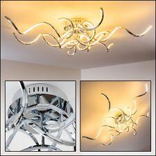 Design Deckenleuchte LED  Wohn Zimmer Leuchten Chrom Flur Strahler Decken Lampen