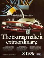 1985 FORD FALCON XF S PACK A3 POSTER AD SALES BROCHURE ADVERTISEMENT ADVERT