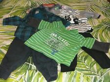 BULK LOT: Baby BOY Winter Tops and Pants (Size 000) - 6 items