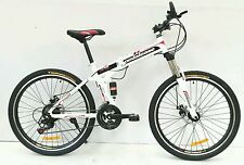 "Pedalease Fusion 26""wheel Folding Mountain Bike 2016 model - White colour"