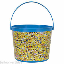 Official Emoji Smiley Faces Birthday Party Plastic Loot Gift Favour Bucket