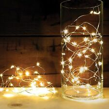 3m Wired Silver String Lights LED Battery Powered Fairy Wedding Party Safe Light