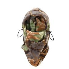 Motorcycle Ski Polar Fleece Balaclava Neck Warm Snood Face Mask Cap Hat Camo