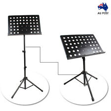 Music Sheet Stand Adjustable Folding Heavy Duty Large Professional Stage Black