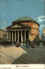 Roma ~1910 Il Pantheon Reklame-AK Loeflung Grunbach b. Stuttgart Diät Präparate